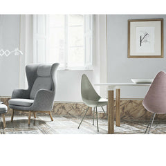 Ro Chair by Jaime Hayon in Room with Drop Chairs and Analog Table Fritz Hansen