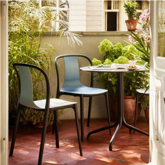 Ronan & Erwan Bouroullec's Belleville Round Bistro Table with Belleville Side Chairs by Vitra