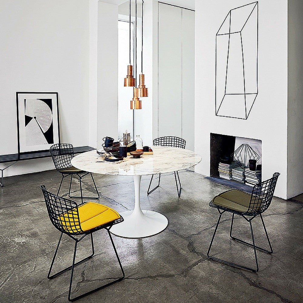 Knoll Saarinen Dining Table Round Palette Parlor Modern Design - Black marble tulip dining table