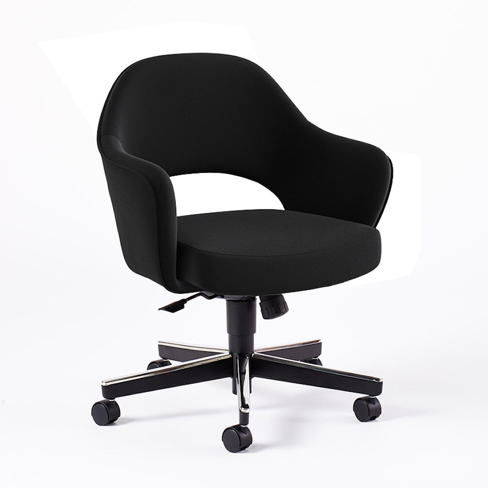 Marvelous Saarinen Executive Arm Chair With Swivel Base Lamtechconsult Wood Chair Design Ideas Lamtechconsultcom