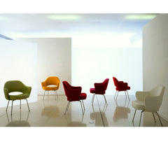 Saarinen Executive Arm Chairs with Chrome Legs artistic in room Knoll