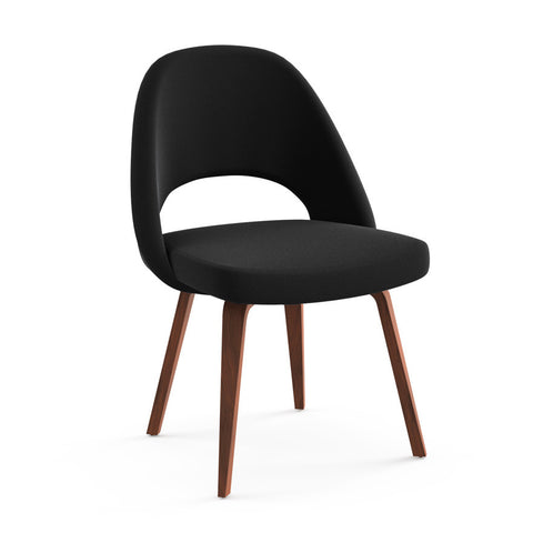 Saarinen Executive Armless Chair Wood Legs