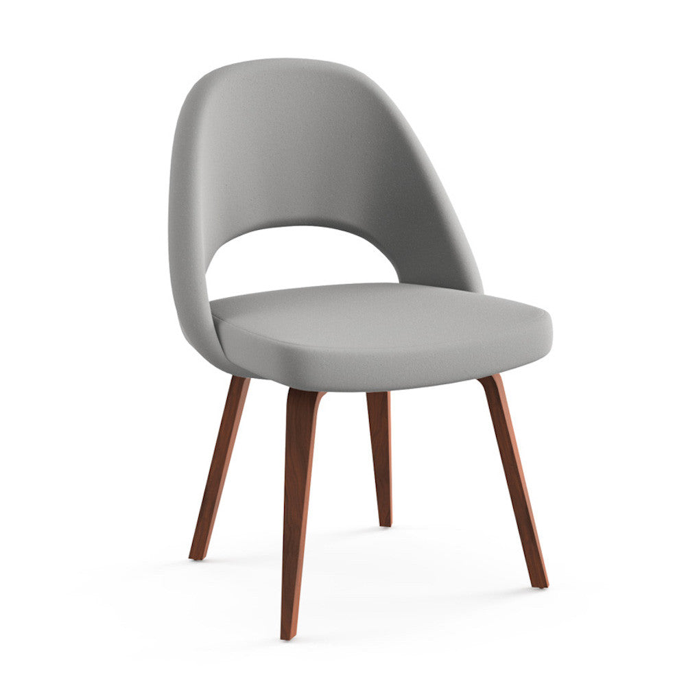 Saarinen executive armless chair wood legs modern for Saarinen executive armless chair