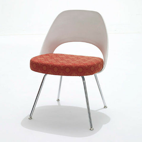 Saarinen Executive Armless Chair with Plastic Back