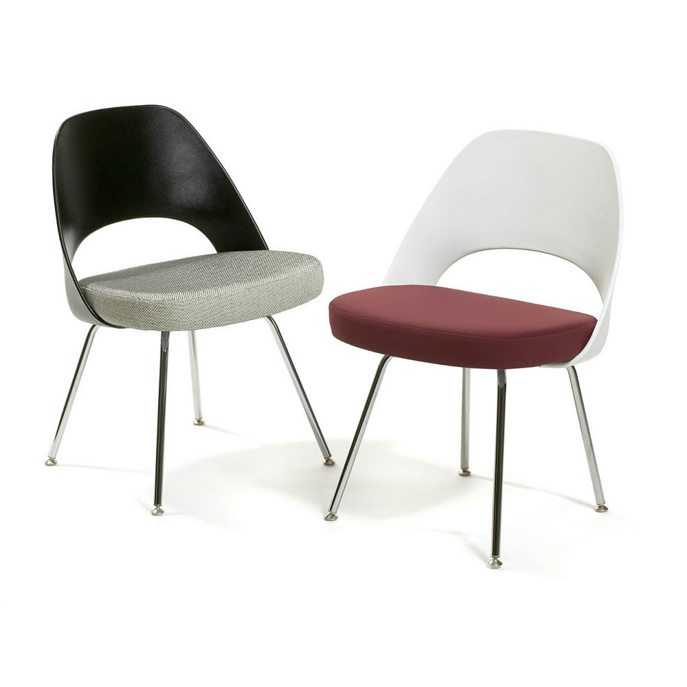 armless executive chair. Saarinen Executive Armless Chairs With Black And White Plastic Backs Upholstered Seats In Knoll Textile Chair