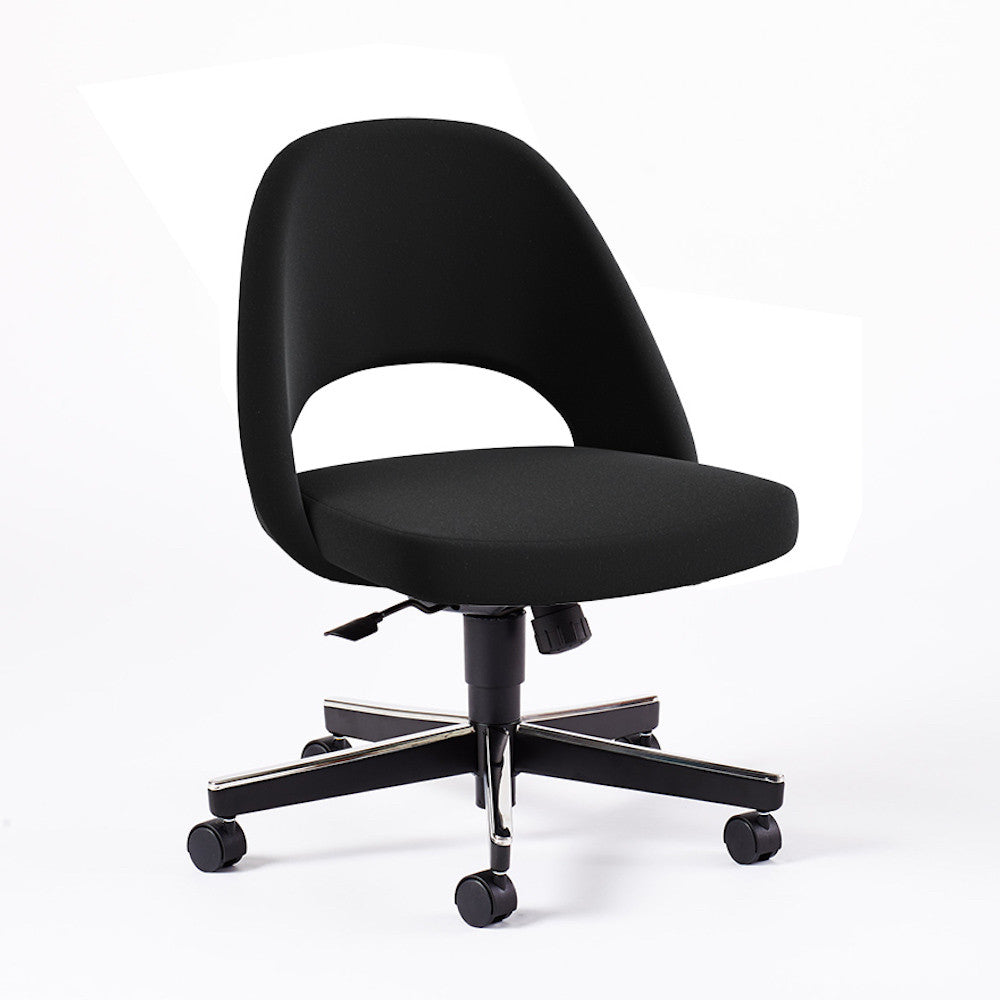 Saarinen Executive Armless Chair With Swivel Base Palette Parlor Modern Design