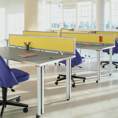 Saarinen Executive Armless Office Chairs on Casters in Open Office Space Knoll
