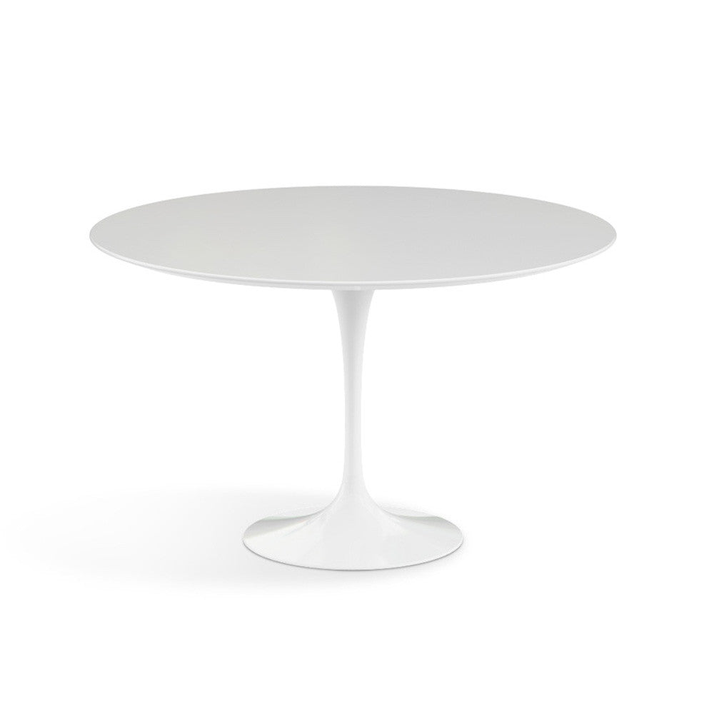 Saarinen Round Pedestal Table Knoll Modern Furniture Palette . White Round  Pedestal Dining ...