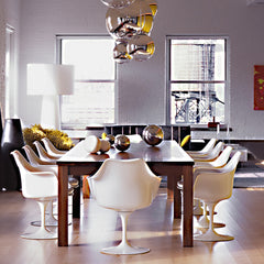 Saarinen Tulip Arm Chairs in Mod Loft Knoll
