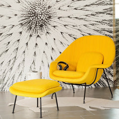Saarinen Womb Chair in Dynamic Bumble with Black Legs Knoll