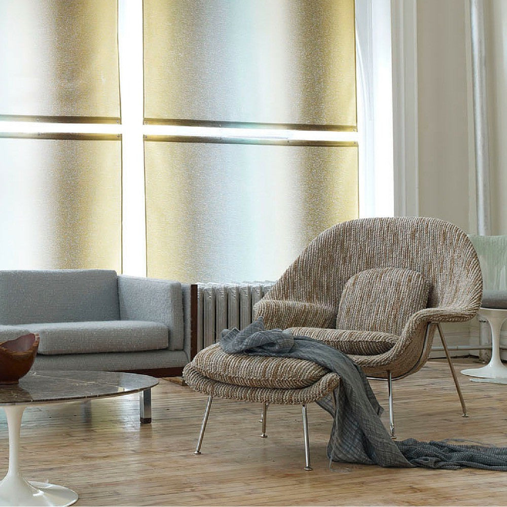 Saarinen Womb Chair Knoll Luxe With Tulip Coffee Table In Room
