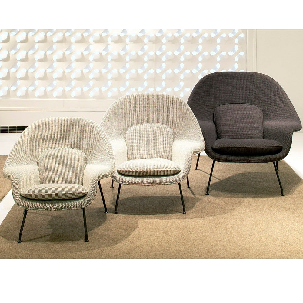 Knoll Womb Chair | Eero Saarinen | Modern Furniture | PALETTE & PARLOR - Saarinen Womb Chair Collection Small Medium Large