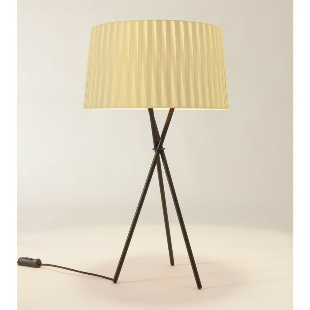 Santa and Cole Table Lamp G6 Natural Ribbon Shade
