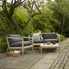 Virkelyst Outdoor Lounge Collection (Chair, 2-Seater, and Lounge Table) by Skagerak