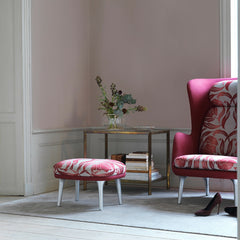 Fritz Hansen Pimpernel Ro Chair in Room with Footstool and High Heels