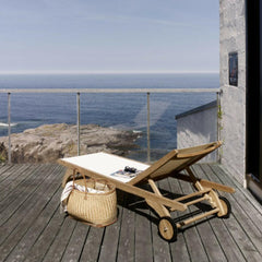Skagerak Columbus Sun Lounger in White