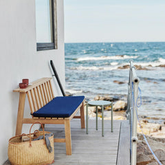 Skagerak Plank Bench with Barriere Liso®Marine Blue cushion