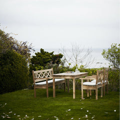 Skagerak Skagen Bench, Dining Chairs, and Table Seaside