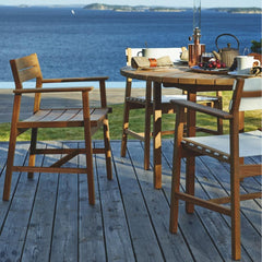 Skargaarden Djuro Teak Dining Chairs Outdoors with Djuro Table