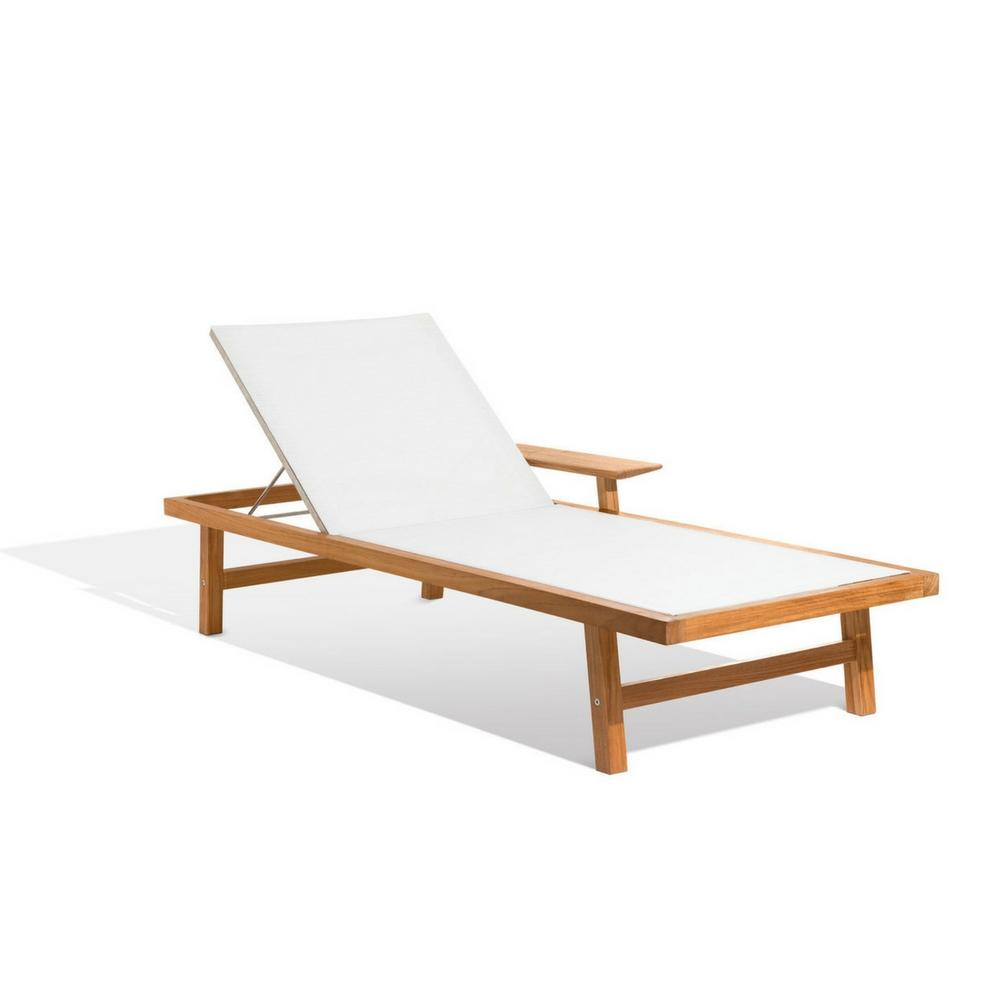 Skargaarden Djuro Sun Lounge Chair Teak and Batyline