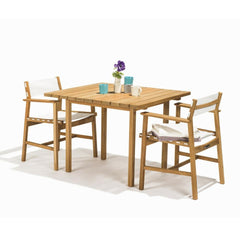 Skargaarden Djuro Teak Outdoor Dining Table Square styled with Djuro Dining Chairs