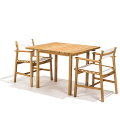 Skargaarden Djuro Teak Dining Table Square with Djuro Dining Chairs
