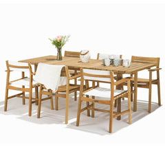 Skargaarden Djuro Rectangular Teak Dining Table Styled with Djuro Dining Chairs