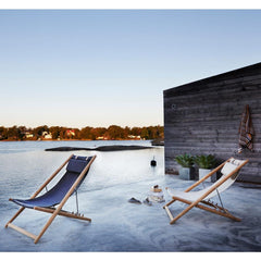 Skargaarden H55 Lounge Chairs Outdoors at Beach House Sunset