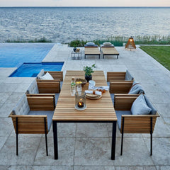 Häringe Dining Table, Armchairs, and Sun Loungers by Skargaarden