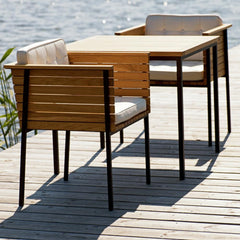 Häringe Armchairs and Square Dining Table by Skargaarden