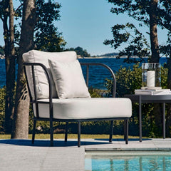 Skargaarden Salto Outdoor Lounge Chair by Pool Charcoal Grey