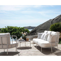 Skargaarden Salto Outdoor Lounge Chair and Sofa on Deck