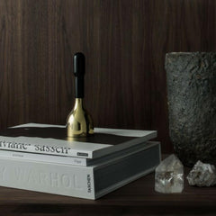 Skultuna Black and Brass Bell in Situ