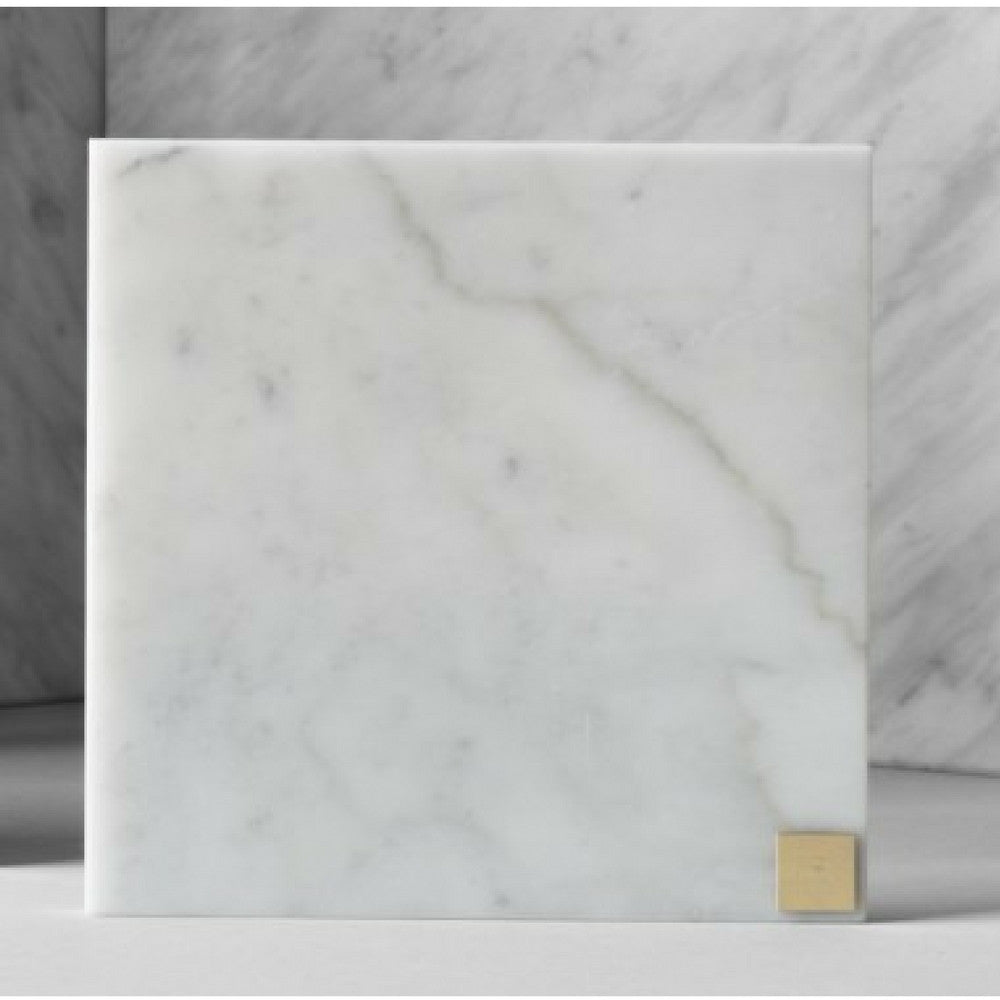 Small White Marble Plate from Skultuna