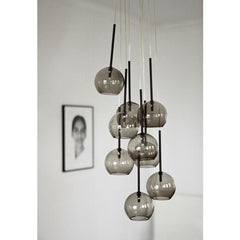 SR6 Ice Chandelier Black Luster in Room