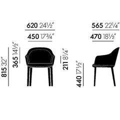 Softshell Chair Dimensions - Four Legs