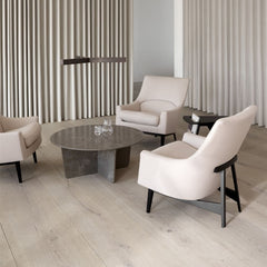Space Copenhagen Tableau Coffee Table with Rison A-Chairs for Fredericia