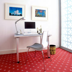 Knoll Copeland Light Silver in home office with Marco Maran Gigi Side Chair Home Office Knoll