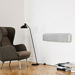 Wall Mounted Vifa Stockholm Speaker with Kaiser Idell Floor Lamp and Jaime Hayon Ro Lounge Chair from Fritz Hansen