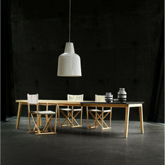 Strand + Hvass SH900 Extend Dining Table with Kaare Klint Safari Chairs for Carl Hansen & Søn
