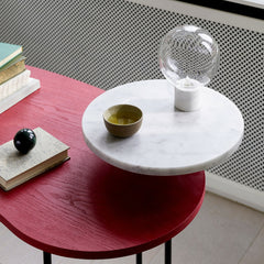 Studio VIT sv6 Marble Table Light on Palette Desk by Jaime Hayon