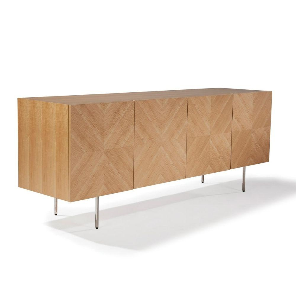 Thayer Coggin Milo Baughman Design Classic Maple Sideboard