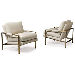 Thayer Coggin Milo Baughman 951 Design Classic Lounge Chair Front and Back