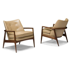 Thayer Coggin Milo Baughman Draper Chair 1230-103 Front and Back
