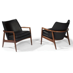 Thayer Coggin Milo Baughman Draper Lounge Chair Front and Back