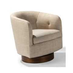 Thayer Coggin Milo Boughman Roxy Would Swivel Chair Walnut Base