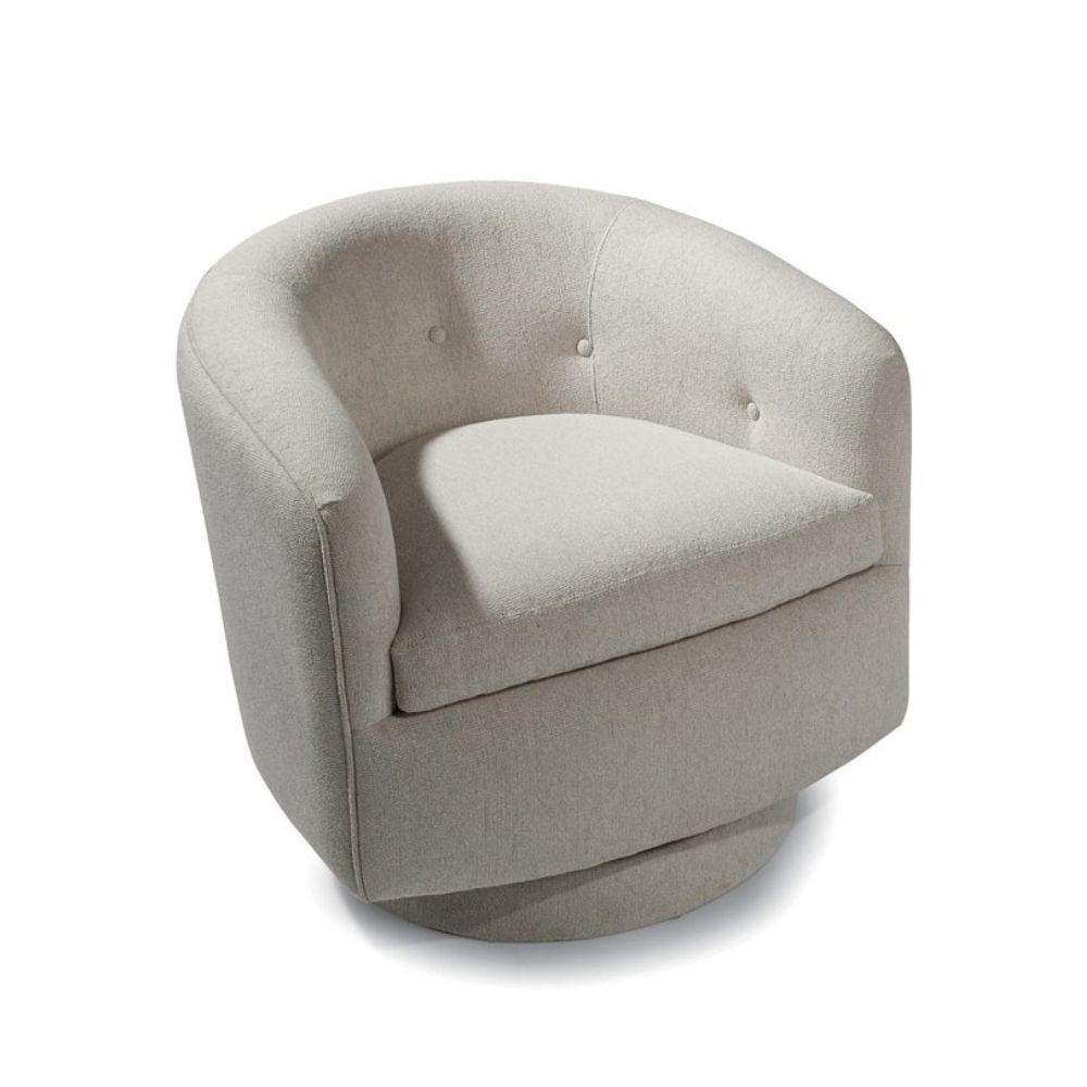 Thayer Coggin Milo Baughman Roxy-O Swivel Chair 1283-113