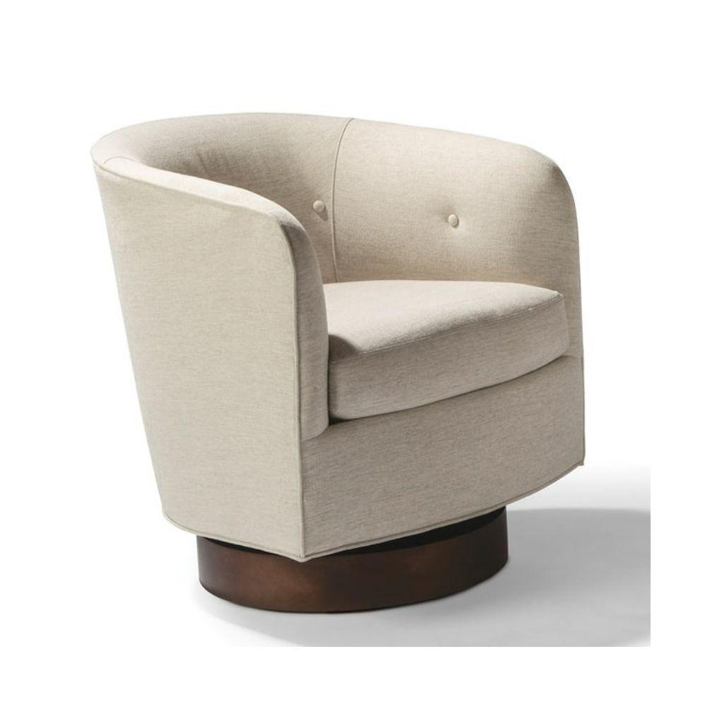 Thayer Coggin Milo Boughman Roxy Would Swivel Chair