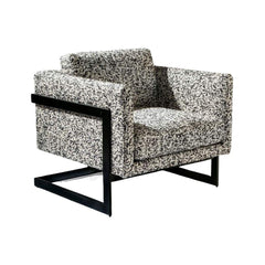 Thayer Coggin Milo Baughman T-Back lounge Chair Black Frame