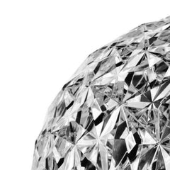 Close-up of Tokujin Yoshioka's Planet Low Table Lamp in Crystal by Kartell